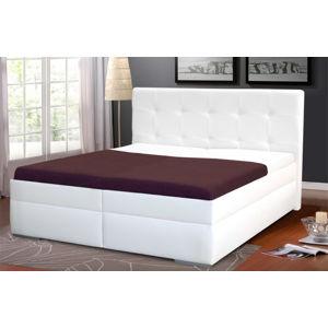 Kasvo INGRIDA 2 postel 160x200 cm M01 ekokůže bílá