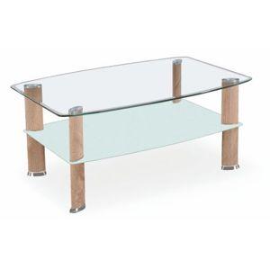 Kasvo ASTRA konf.stůl dub Sonoma / sklo / mléčné sklo / chrom